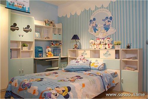 儿童房内部的颜色对小孩儿的
