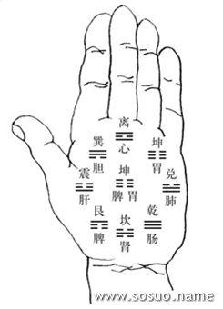 异路线(才华线):位置在天纹与玉柱线交接线以下至驿马线, 旁边则直到