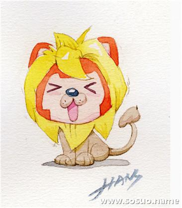 狮子矢量侧面头像